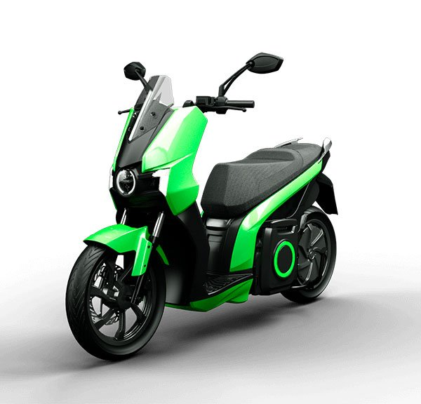 moto eléctrica silence S01 verde 2